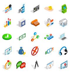 Image icons set isometric style vector