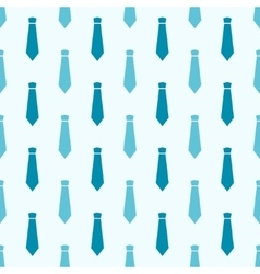 Seamless pattern with blue neckties vector