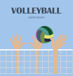Sports game volleyball vector