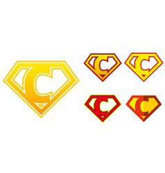 super hero logo letters superhero alphabet vector image