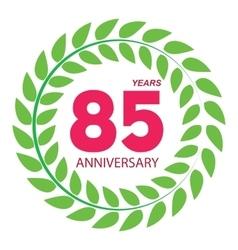 Template Logo 85 Anniversary in Laurel Wreath vector image vector image