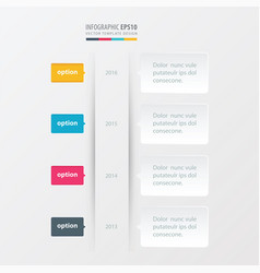 timeline template yellow blue pink color vector image vector image