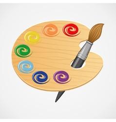 Wooden art palette vector