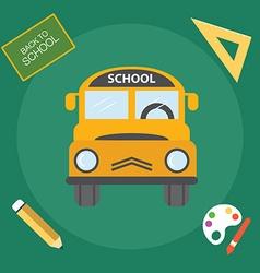 Yellow school bus back to school vector