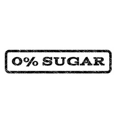 0 percent sugar watermark stamp vector