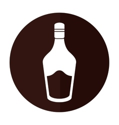 Bottle cream whiskey liqueur icon shadow vector