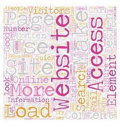Necessary Elements Of Website Development text vector image