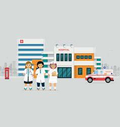 hospital doctor vector image
