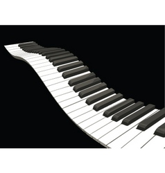 Wavy piano keys vector