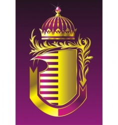 shield and crown vector image