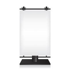 City light black billboard on white background vector image