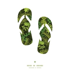 Evergreen christmas tree flip flops silhouettes vector