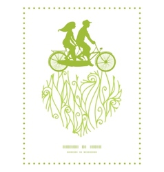 Abstract swirls texture couple on tandem bicycle vector