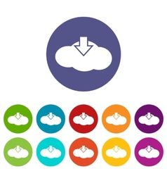 Download cloud flat icon vector