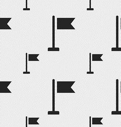Flag icon sign seamless pattern with geometric vector