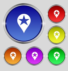 Map pointer award gps location icon sign round vector