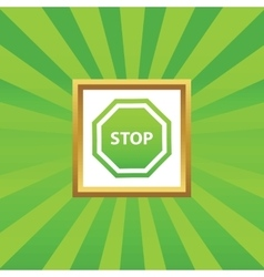 Stop picture icon vector