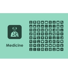 Set of medicine simple icons vector