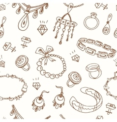 Seamless pattern with accessories sketch icon set vector