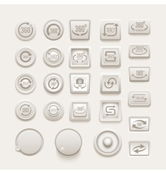 Rotate buttons set vector