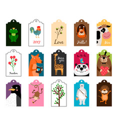 Animal tags frames or label vector