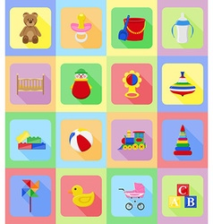 Baby flat icons 19 vector