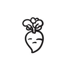 Beet sketch icon vector