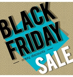 Black friday sale banner on patterned background vector image