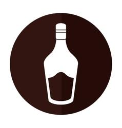 Bottle cream whiskey liqueur icon shadow vector