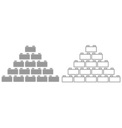 Building block it is black icon vector