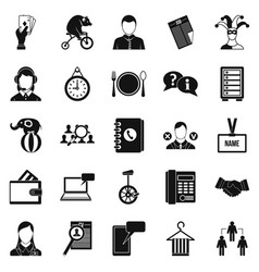 Business intelligence icons set simple style vector