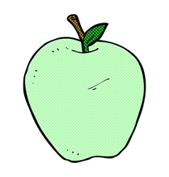 comic cartoon apple vector image vector image