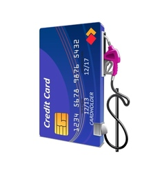 Credit card as gas pump vector