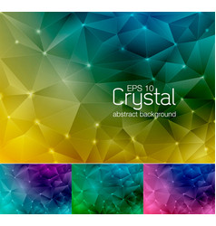 crystal abstract background 5 vector image vector image