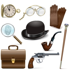 Detective Icons vector image
