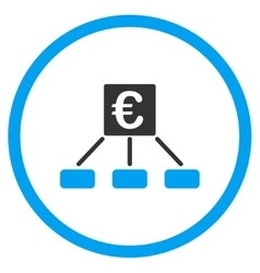 Euro money payment rounded icon vector