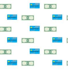 Finance seamless pattern vector