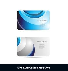 Gift card blue silver grey vector