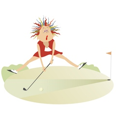 Good day for playing golf6 vector image