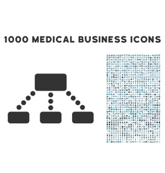 Hierarchy icon with 1000 medical business vector