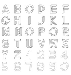 Impossible font vector image