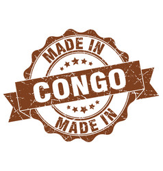 Made in congo round seal vector