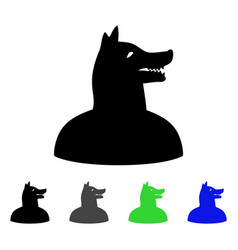 Man dog flat icon vector
