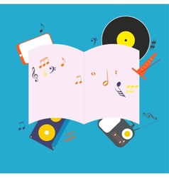 Musical notepad vector