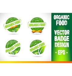 Organic food badge logo vector