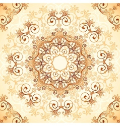 Ornate vintage pattern in mehndi style vector image vector image