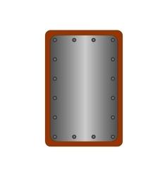 Sign shield silver rectangle 1608 vector