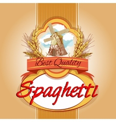 Spaghetti pack label vector