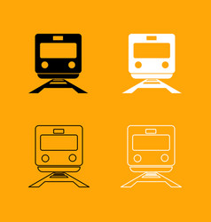 train black and white set icon vector image