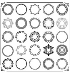 Vintage set of round elements vector